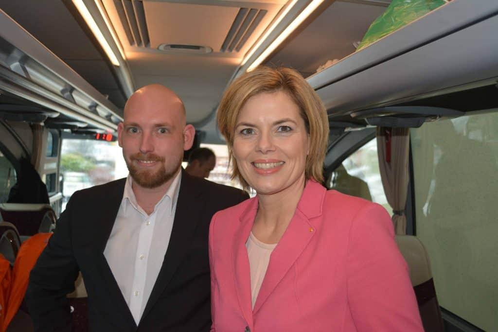 Dominik Ley und Julia Klöckner