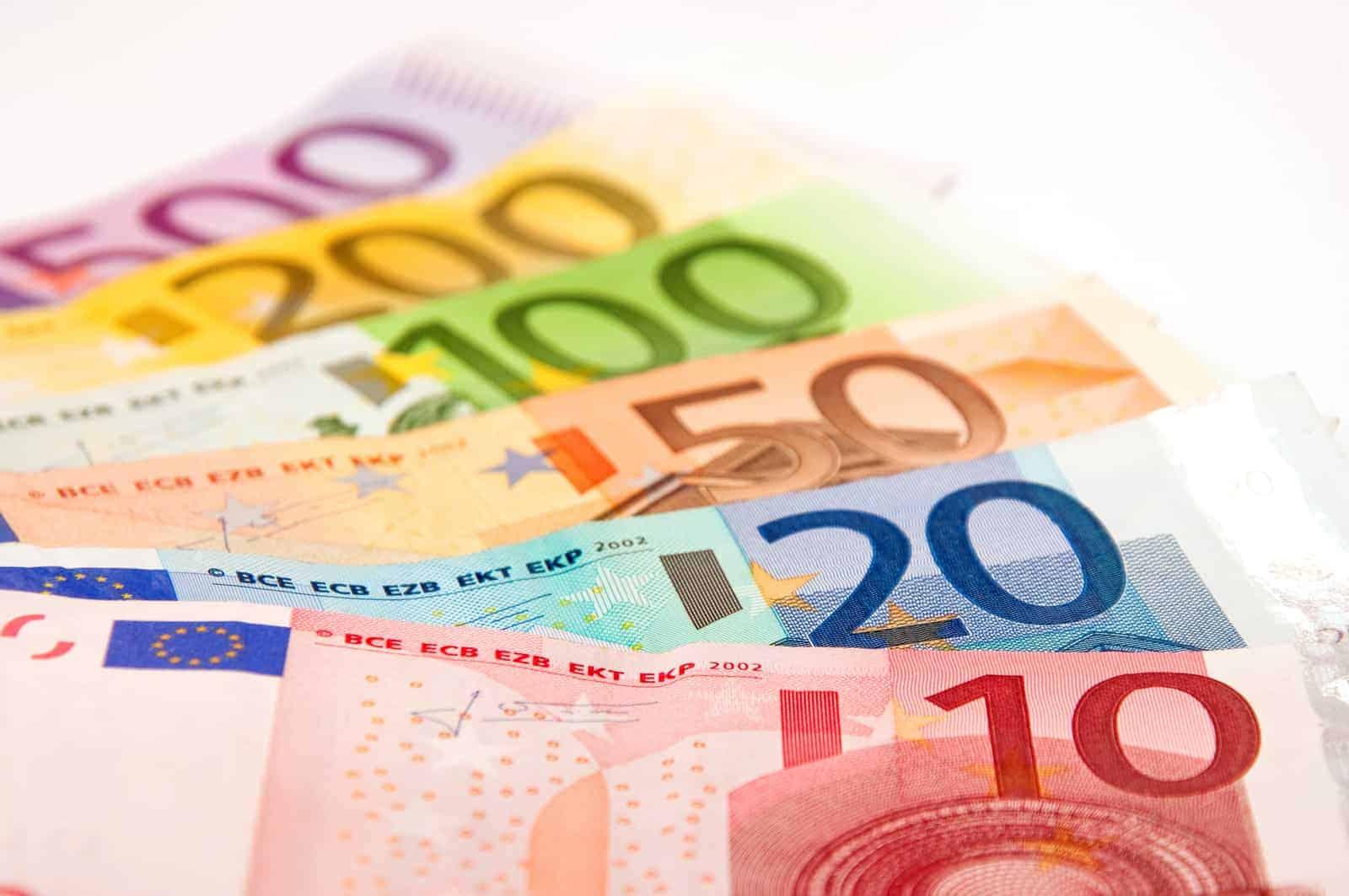 Geldscheine signalisieren die Kaufkraft